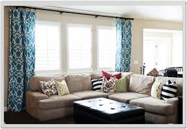 Cheap Window Treatments by Curtains With Blinds In Living Room