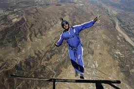 Los Angeles Without A Map by Without A Parachute Sky Diver Plummets Into Net From 25 000 Feet