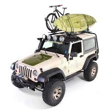 jeep with surfboard amazon com rugged ridge 11703 21 sherpa roof rack kit for jeep jk
