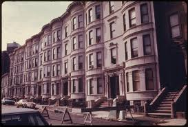 file row houses in brooklyn new york city the inner city today