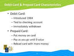 reload prepaid card with checking account charge it right fdic money smart for adults ppt