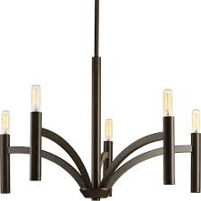 Home Depot Bronze Chandelier Progress Lighting Draper Collection 5 Light Antique Bronze