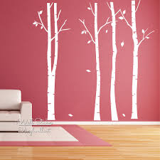 Tree Wall Art Decals Vinyl Sticker Birch Tree Wall Art Sticker Modern Large Tree Wall Decal Birch