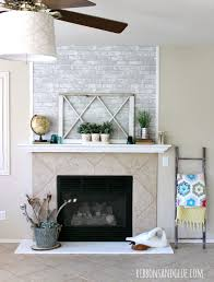 simple and temporary fireplace makeover
