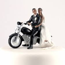motorcycle wedding cake toppers wedding cake toppers motorcycle getaway wedding cake topper