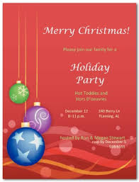 printable merry christmas party invite template