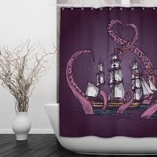 Shower Curtains Ebay Octopus Shower Curtain Wall Art The Kraken Rum Shower Curtain