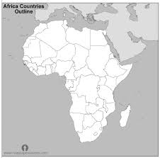 africa map black and white free africa countries outline map black and white countries