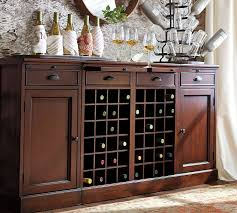 Modular Bar Cabinet Modular Bar Buffet With 2 Wine Grid Bases 2 Cabinets Pottery Barn