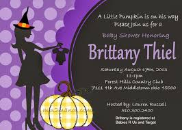 photo halloween baby shower invitations image