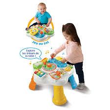 table eveil bebe avec siege ma table d activités bilingue multicolore jeu recherche