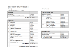 free printable yearly or monthly income statement template sample
