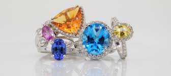 coloured gemstones rings images Coloured gemstones pure envy jewellery png