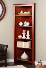 Corner Bookcase Wood Corner Book Shelves Corner Bookcase Redford Cherry Corner