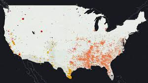 Color Coded Map Of Usa by Each Dot On This Map Is A Place Where A Person Of Color Was