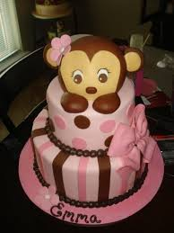 monkey baby shower cake monkey themed cakes for a baby shower party xyz