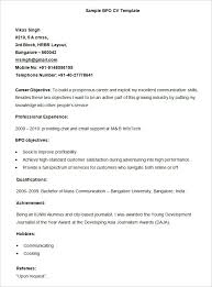 Resume For Work Experience Sample by Bpo Resume Template U2013 22 Free Samples Examples Format Download