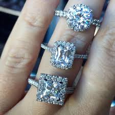 halo rings images Halo vs no halo engagement rings jpg