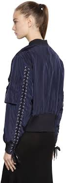 designers remix designers remix bomber jacket w lace up detail where to