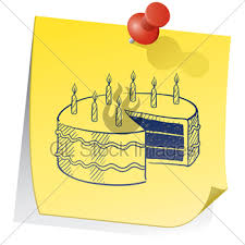 birthday cake sketch gl stock images