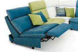 Modern Italian Leather Furniture David Ferrari Spritz Italian Modern Leather U0026 Fabric Sectional Sofa