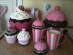 cupcake canisters for kitchen kitchen amazing kitchen theme decor sets decorative items for