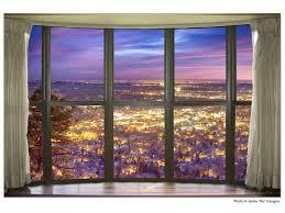 city lights bay window view 32 x48 x1 25 premium canvas gallery