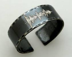 custom ring engraving sound wave jewelry etsy
