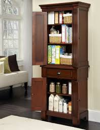 kitchen rustic cherry wood free standing kitchen pantry ideas