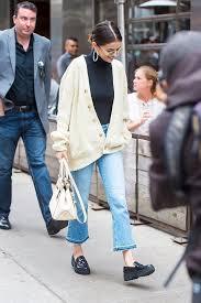 selena gomez sweater selena gomez wearing cardigan in york popsugar fashion