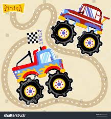 monster trucks clipart monster truck championship vector cartoon illustration stock