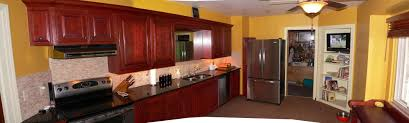 kitchen with cherry wood cabinets kitchen decoration
