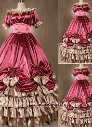 cheap gothic victorian super luxuriant elegant pink dress