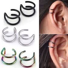 clip on earrings s 2 pcs set simple ear clip cuff wrap earrings for women