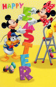 easter mickey mouse disney mickey minnie happy easter greeting card cards kates