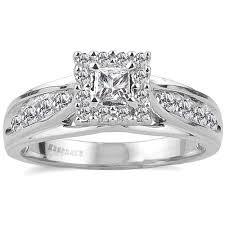 engagement ring walmart keepsake melody 1 2 carat t w certified 10kt white gold