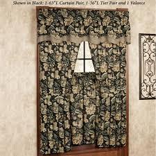 Short Length Blackout Curtains Valerie Jacobean Floral Short Length Window Treatment