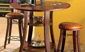 Round Pub Table Set Pub Tables Sarsetta Sable Pub Table Natural And Black Pub Table