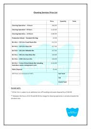 photographer prices template wedding photographer price list template cleaning