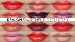 tutorial lipstik revlon revlon lipstick swatches makeup declutter youtube