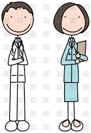 Doctor And Nurse Cartoon Illustration Of Doctor And Nurse Vector Clipart Image