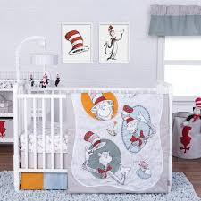 Cat In The Hat Crib Bedding Set Lab Dr Seuss 3 Pc Classic Cat In The Hat Crib Bedding Set