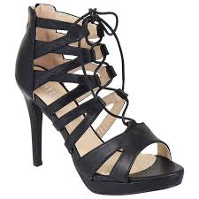 ladies women cut out lace up high heel ankle straps gladiator