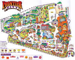 Universal Orlando Maps by Theme Park Brochures Frontier City Theme Park Brochures