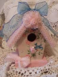 shabby chic birdhouses hand painted birdhouse shabby pink roses