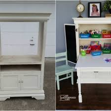 Kids Art Desk With Storage by Kids Furniture Archives My Repurposed Life
