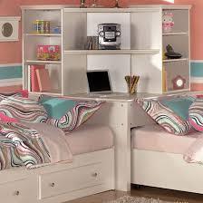Twin White Bedroom Set - corner unit bedroom set signature design by ashley mi style