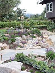 Mediterranean Backyard Landscaping Ideas Dry Creek Bed Landscaping Ideas Houzz