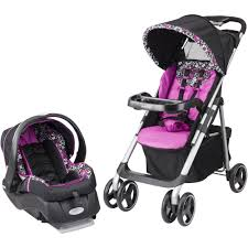 pink toddler car evenflo car seat and stroller combo 6168