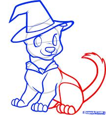 cute halloween drawings how to draw a halloween dog halloween dog step by step